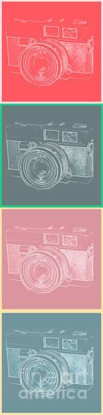 Photograph - Vintage 35mm Film Camera Pop Art Totem by Edward Fielding