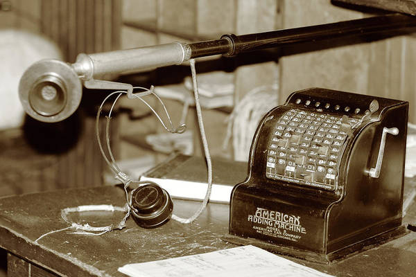 Photograph - Vintage Adding Machine by Brian Pflanz