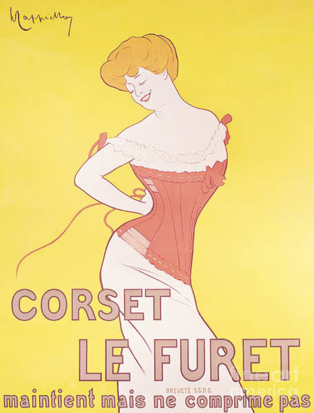 Corset Painting - Vintage Advertisement For Le Furet Corsets  by Leonetto Cappiello