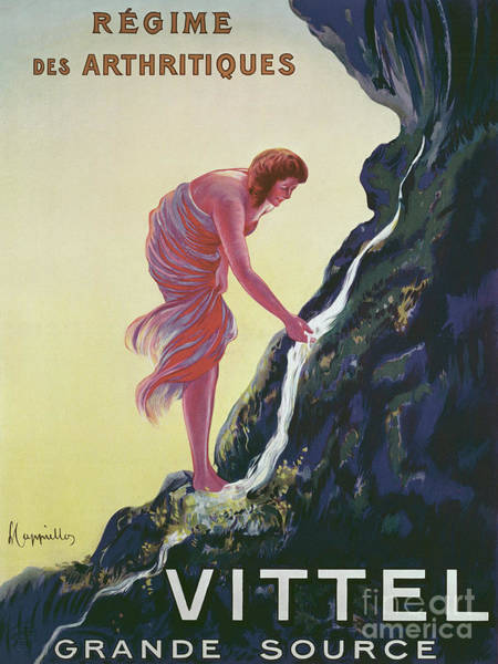Wall Art - Painting - Vintage Advertisement For Vittel Grande Source, 1911 by Leonetto Cappiello