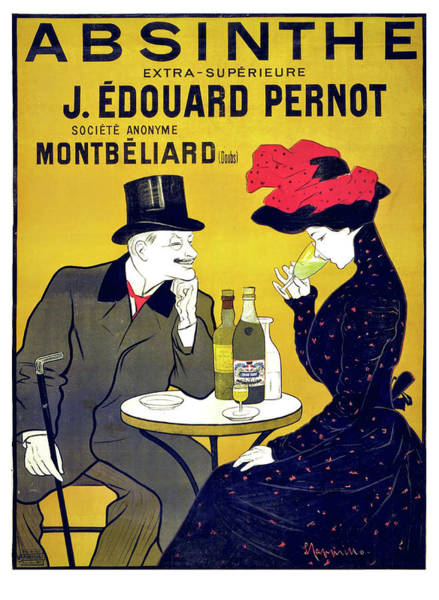 Wall Art - Painting - Vintage Advertising Poster For Alcohol Drink by Long Shot