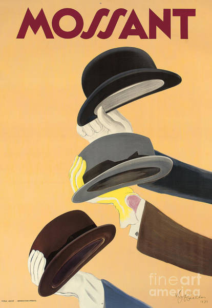 Wall Art - Painting - Vintage Advertising Poster For Mossant Hats by Leonetto Cappiello