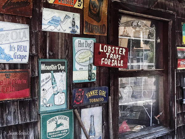 Photograph - Vintage Advertising Signs by Susan Savad