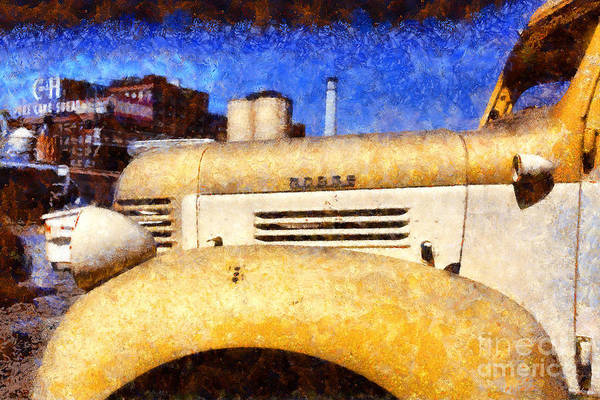 Photograph - Vintage America . Old Dodge Truck At The Old C And H Sugar Plant . Painterly . 5d16786 by Wingsdomain Art and Photography