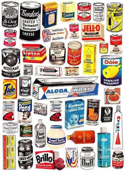 Vintage American Brands Art Print