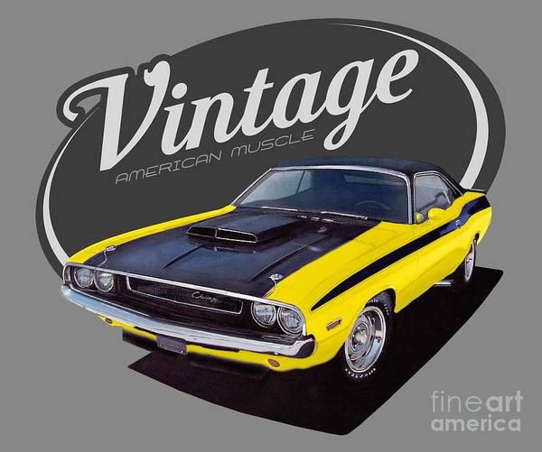 Wall Art - Digital Art - Vintage American Challenger by Paul Kuras