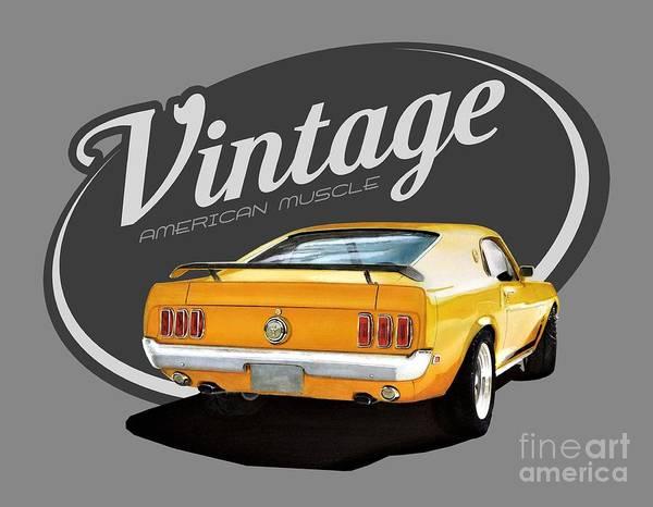 Wall Art - Digital Art - Vintage American Mustang by Paul Kuras