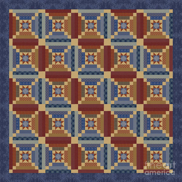 Wall Art - Digital Art - Vintage Americana Quilt B by Jean Plout