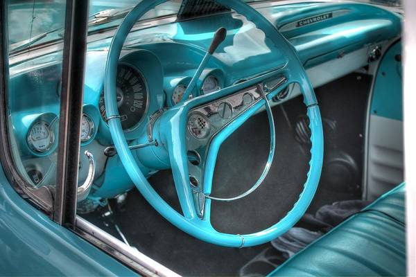 Wall Art - Photograph - Vintage Aqua Chevy by Jane Linders
