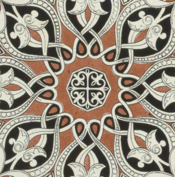 Arabian Drawing - Vintage Arabian Textile Pattern Design by Owen Jones