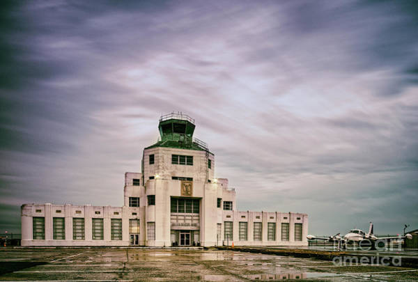 Wall Art - Photograph - Vintage Architectural Photograph Of The 1940 Air Terminual Museum - Hobby Airport Houston Texas by Silvio Ligutti