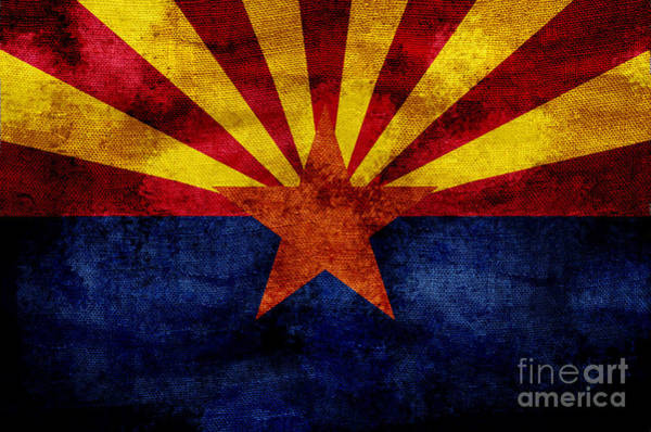 Old Glory Photograph - Vintage Arizona Flag by Jon Neidert