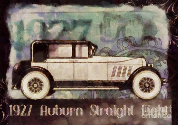 Maserati Painting - Vintage Auburn Pop Art by Sarah Kirk