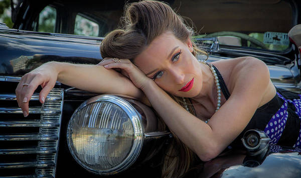Photograph - Vintage Auto And Fashion by James Woody