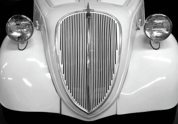 Photograph - Vintage Auto Grille In Black And White by Patricia Strand
