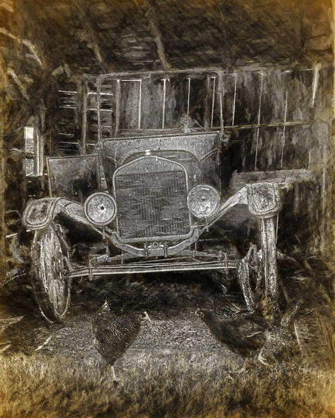 Photograph - Vintage Auto Neglected In A Barn by Randall Nyhof