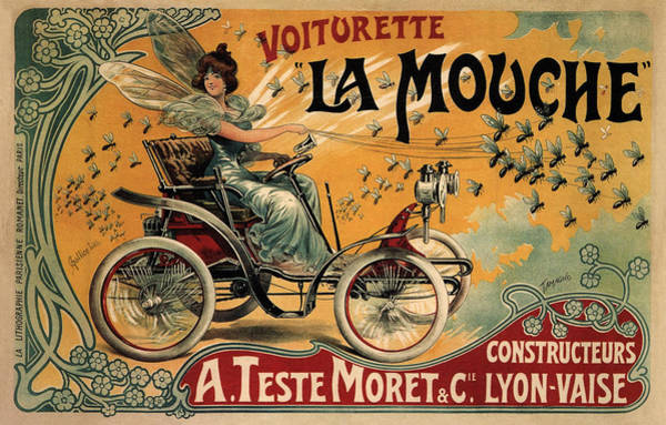 Photograph - Vintage Automobile Ad 1900 by Andrew Fare