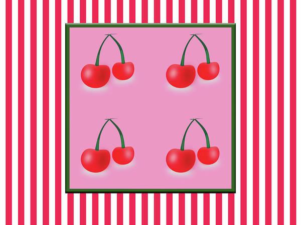 Ingredient Digital Art - Vintage Background With Cherries by Lenka Ondrasova