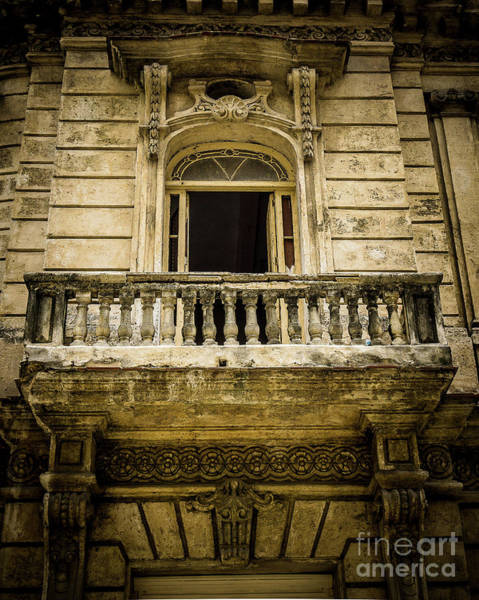 Wall Art - Photograph - Vintage Balcony Cuba by Perry Webster