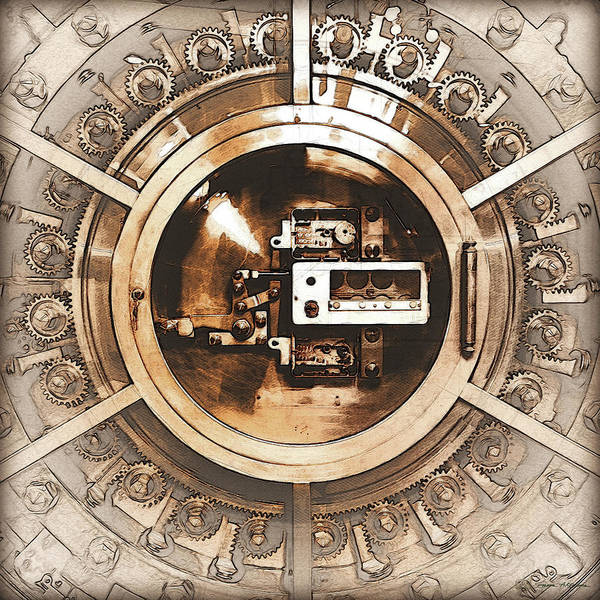 Digital Art - Vintage Bank Vault Lock No. 3 by Serge Averbukh