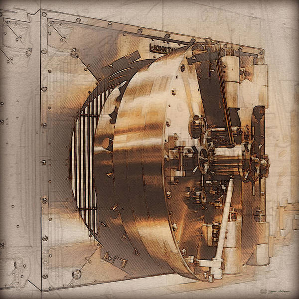 Digital Art - Vintage Bank Vault Lock No. 4 by Serge Averbukh