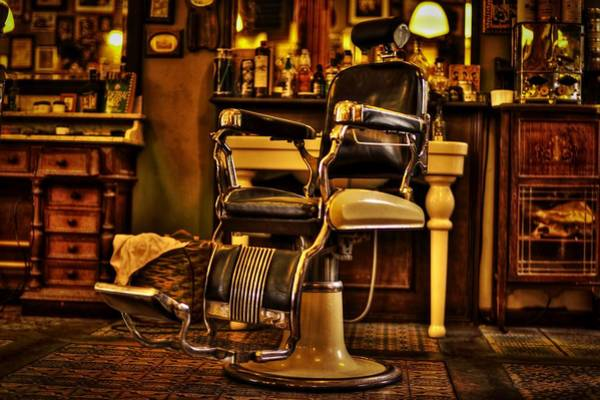 Barbershop Wall Art - Photograph - Vintage Barber Chair by Pixabay
