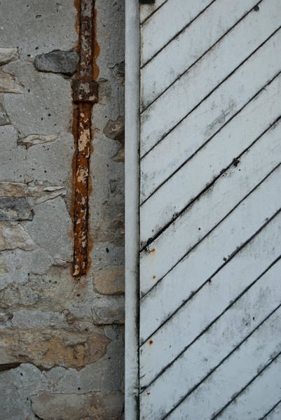 Photograph - Vintage Barn Door And Strap by Jani Freimann