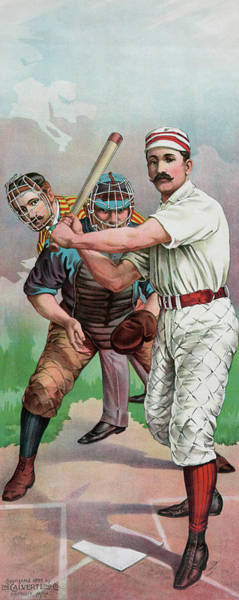 Wall Art - Painting - Vintage Baseball Card by American School