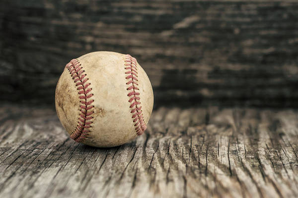 Photograph - Vintage Baseball by Terry DeLuco