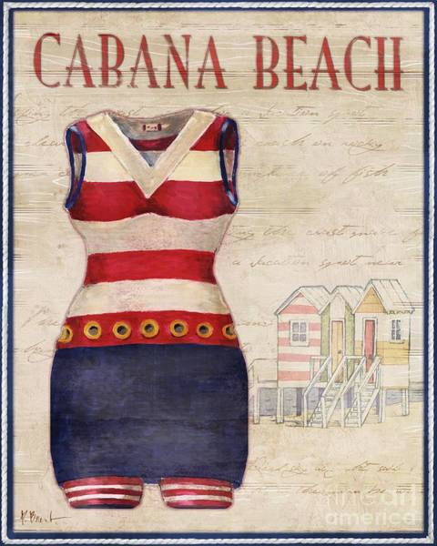 Bathing Suit Wall Art - Painting - Vintage Bathing Suits I by Paul Brent