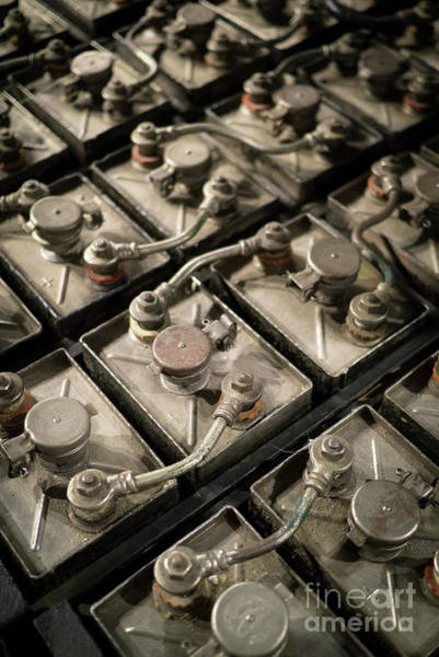 Battery Photograph - Vintage Battery Cells by Edward Fielding