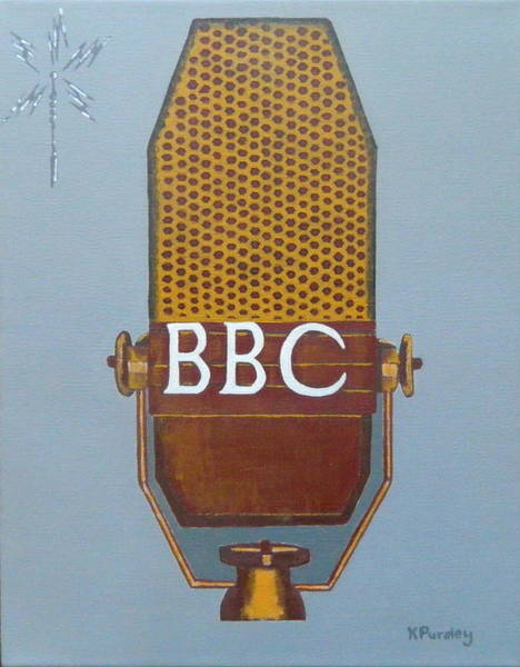 Bbc Painting - Vintage Bbc Mic by Kenneth Pursley