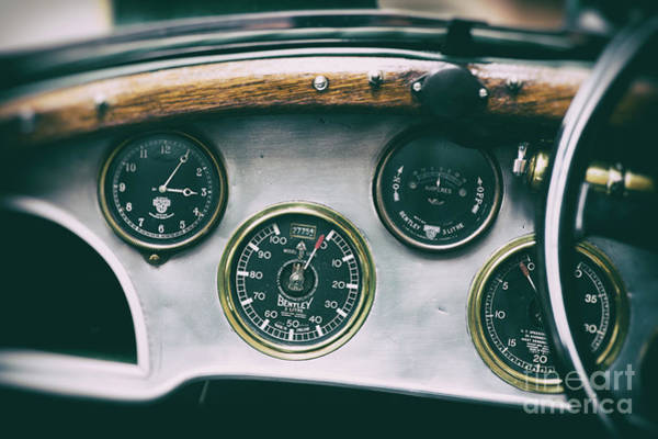 Photograph - Vintage Bentley Dashboard by Tim Gainey