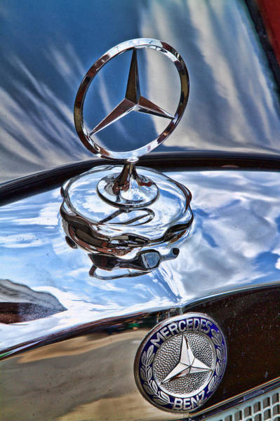 Photograph - Vintage Benz Stars by Val Black Russian Tourchin