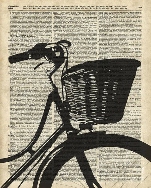 Wall Art - Drawing - Vintage Bicycle by Anna W