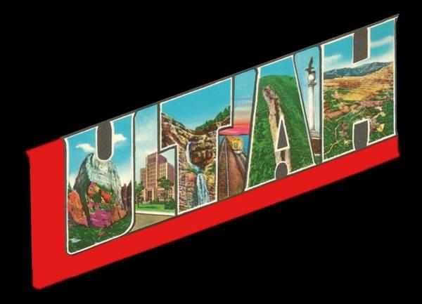 Photograph - Vintage Big Letters Utah State Souvenir by Colleen Cornelius