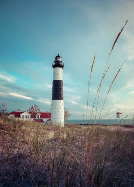 Photograph - Vintage Big Sable Point by Dan Sproul