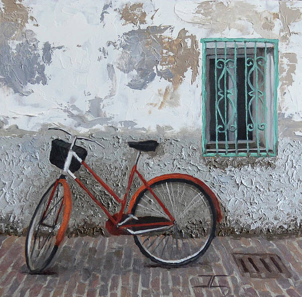 Painting - Vintage Series #3 Bike by Jan Christiansen