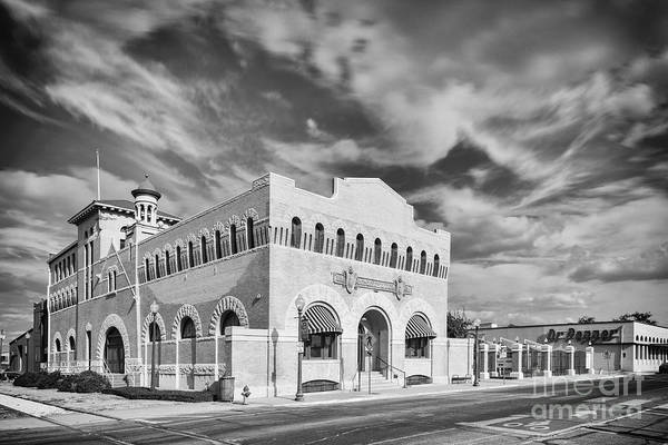 Wall Art - Photograph - Vintage Black And White Photograph Of The Dr. Pepper Museum In Downtown Waco - Central Texas by Silvio Ligutti