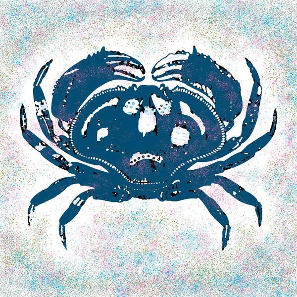 Digital Art - Vintage Blue Crab by Joy McKenzie