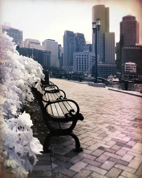 Photograph - Vintage Boston Harborwalk Art by Joann Vitali