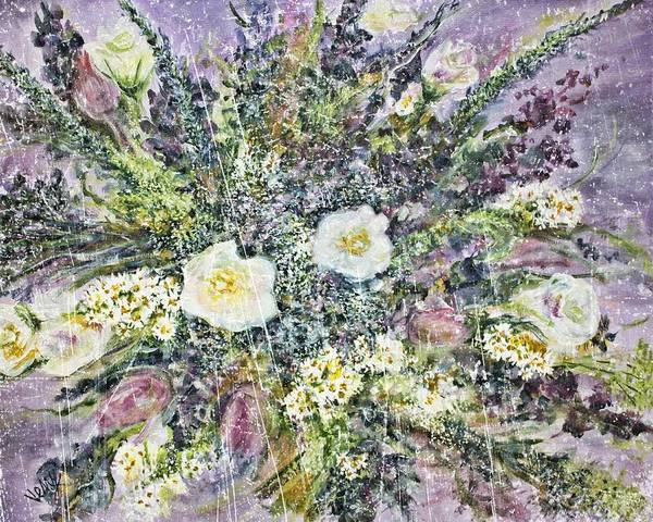 Variation Mixed Media - Vintage Bouquet Variation #2 by Venetka Arsenov