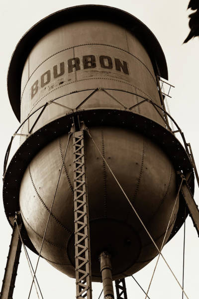 Photograph - Vintage Bourbon Tower Art Sepia by Gregory Ballos