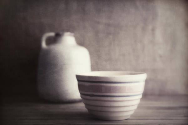 Decorative Photograph - Vintage Bowl With Jug by Tom Mc Nemar