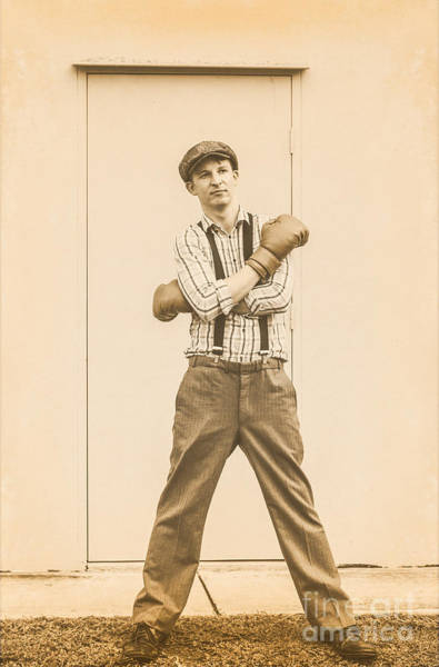 Boxing Photograph - Vintage Boxer Ready For Action by Jorgo Photography - Wall Art Gallery