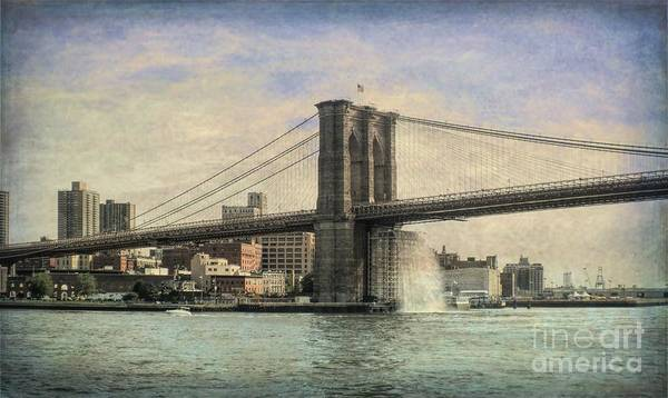 Luther Photograph - Vintage Brooklyn Bridge by Luther Fine Art