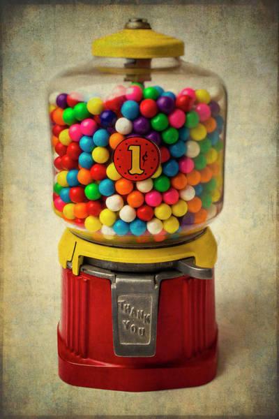 Wall Art - Photograph - Vintage Bubblegum Machine by Garry Gay