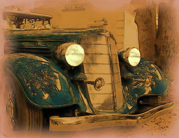 Digital Art - Vintage Buick by Tristan Armstrong