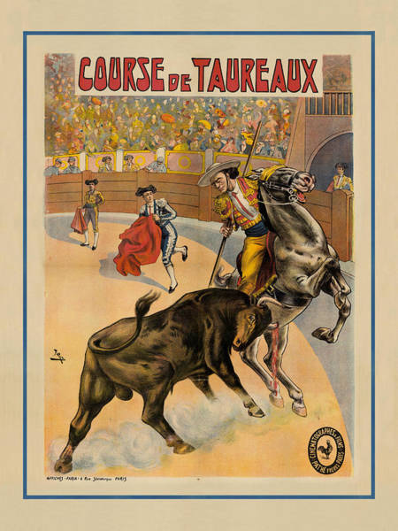 Photograph - Vintage Bullfighting Poster by Andrew Fare