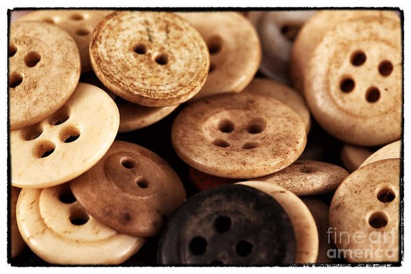 Wall Art - Photograph - Vintage Buttons by John Rizzuto